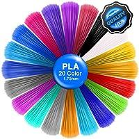 3D Pen Filament,PLA Filament 20 Colors, 5M/16Ft Each Color,Total 328 feet,3D Pen Printer PLA Printing Material Refills 1.75mm,Dimensional Accuracy ±0.02,Fit forAll The Market's 3D pens and Printer.