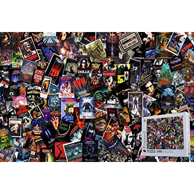 Best Horror Movies 1000 Pieces Wooden Jigsaw Puzzles Home Decoration Puzzles: Toys & Games