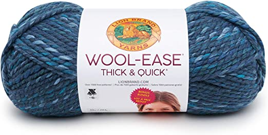 Lion Brand Wool-Ease Thick /& Quick Bonus Bundle Yarn-Storm Front 3 Pack