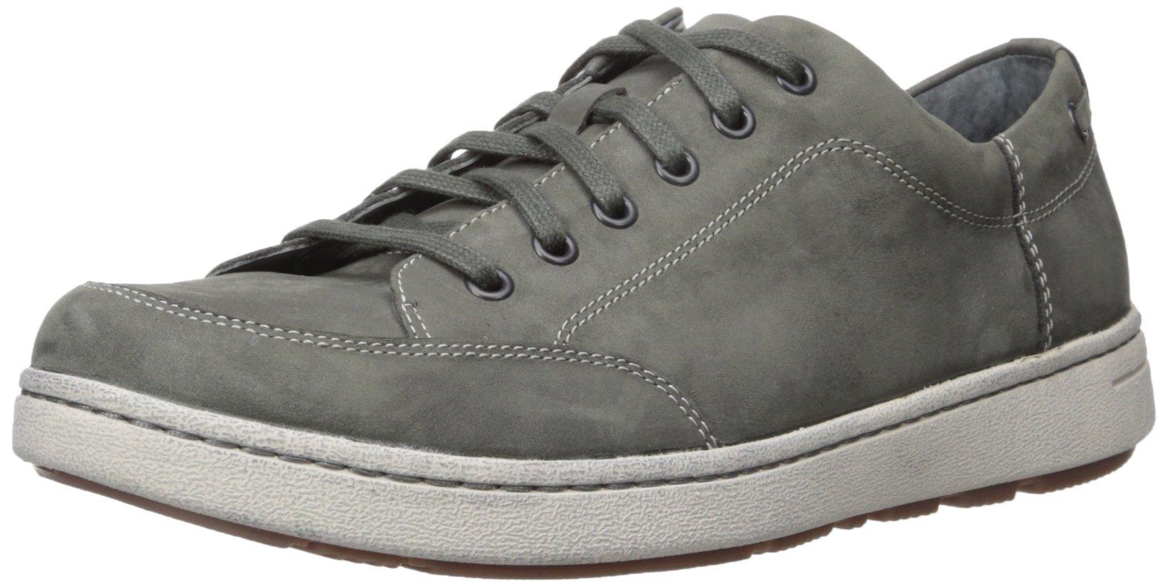 Dansko Men's Vaughn Fashion Sneaker, Grey Milled Nubuck, 44 (US Men's 10.5-11) Regular