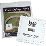 Beadsmith Kumihimo 方形圆盘带英文说明,6 英寸