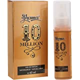 Shama 10 Million Series Alcohol Free, Undiluted Perfume for Men , 60 ml Bottle ,Multicolor