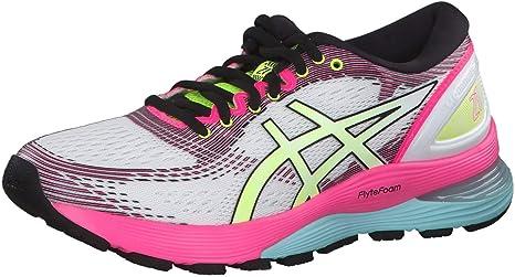 Asics Gel-Nimbus 21 Sp - Zapatillas de running para mujer, color blanco, color, talla 45 EU: Amazon.es: Deportes y aire libre