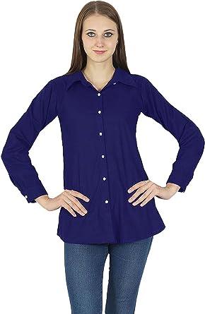 Camisa con Botones de Manga Larga Camiseta de algodón Kurta ...