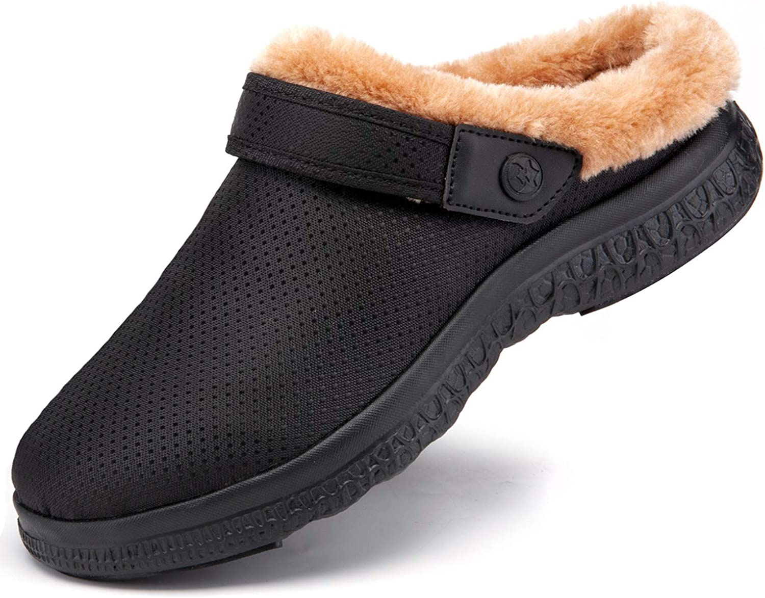 Women's Men's Lined Clogs Winter Slippers Home House Shoes Warm Plush Fleece Lining Garden Clogs Outdoor Indoor Mules
