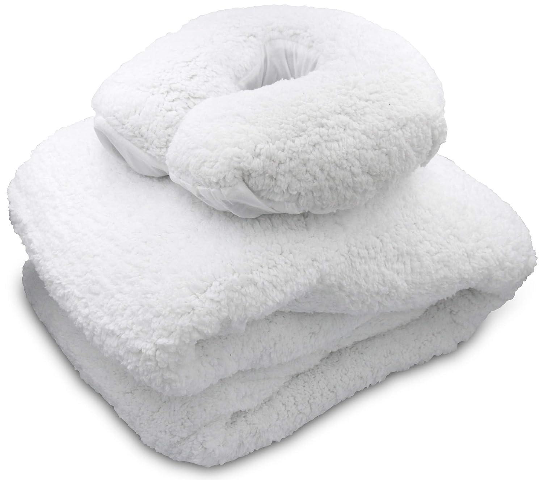 JJ CARE [PREMIUM] Massage Table Fleece Pad Set, 34