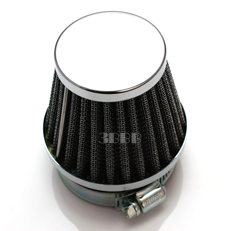 Z10 Motorcycle Honda Kawasaki Suzuki Yamaha SYM 42mm Chrome Power Air Filter 4pcs