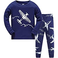 Little Hand Toddler Boys Pajamas Train 100% Cotton Fire Truck Pajama Boy Airplane 2 Piece Pjs Sets Clothes 1-7 T