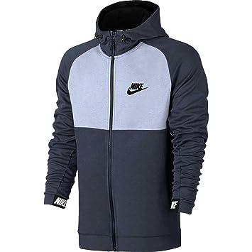 Nike Herren Advance 15 Hoodie FZ Fleece Kapuzenjacke Thunder