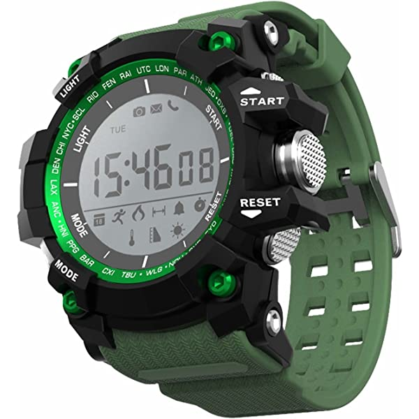 LEOTEC Green Mountain Reloj Inteligente Negro, Verde LCD 2 ...