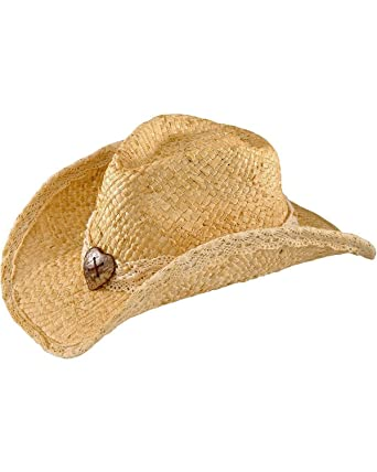 5cb6e59158a441 TROPICAL TRENDS Women's Maize Outback Hat, Brown, One Size at Amazon Women's  Clothing store: Cowboy Hats
