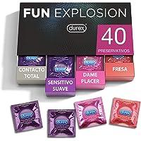 Durex Preservativos Fun Explosion Mixtos Sabor Fresa, Dame