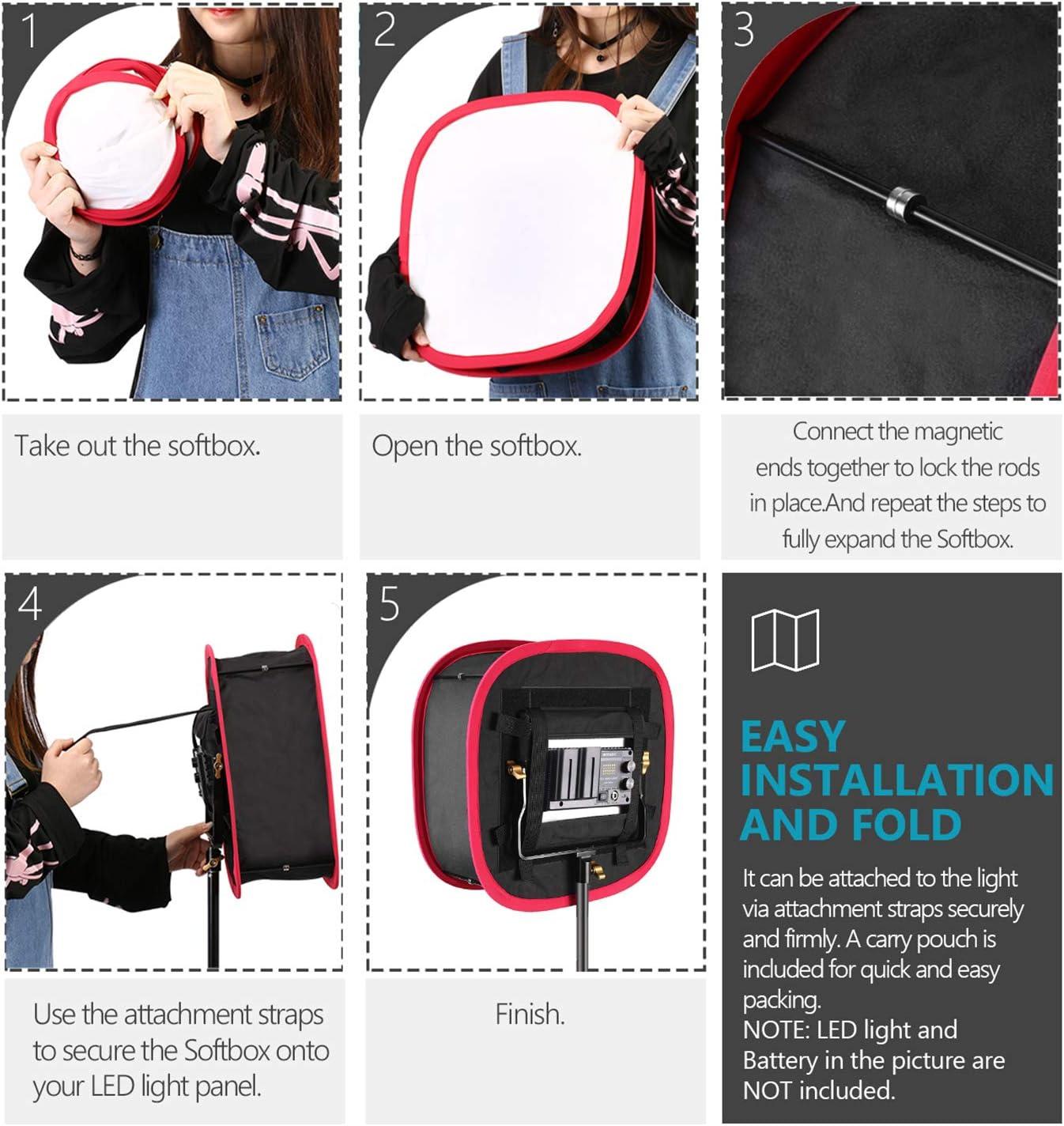Neewer Faltbare Softbox Diffusor Mit Riemenbefestigung Kamera