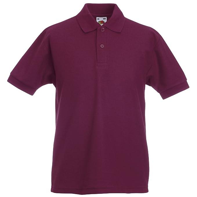 101123ea Fruit of the Loom Unisex Kids 65/35 Short Sleeve Polo Shirt: Amazon.co.uk:  Clothing