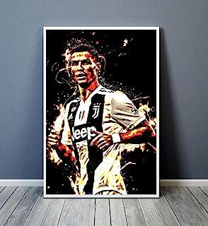 Cristiano Ronaldo Madrid Printed Box Canvas Picture Multiple Sizes Football