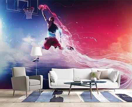 Hhcyy 3d Wallpaper Mural Cool Basketball Slam Dunk Tv Sofa