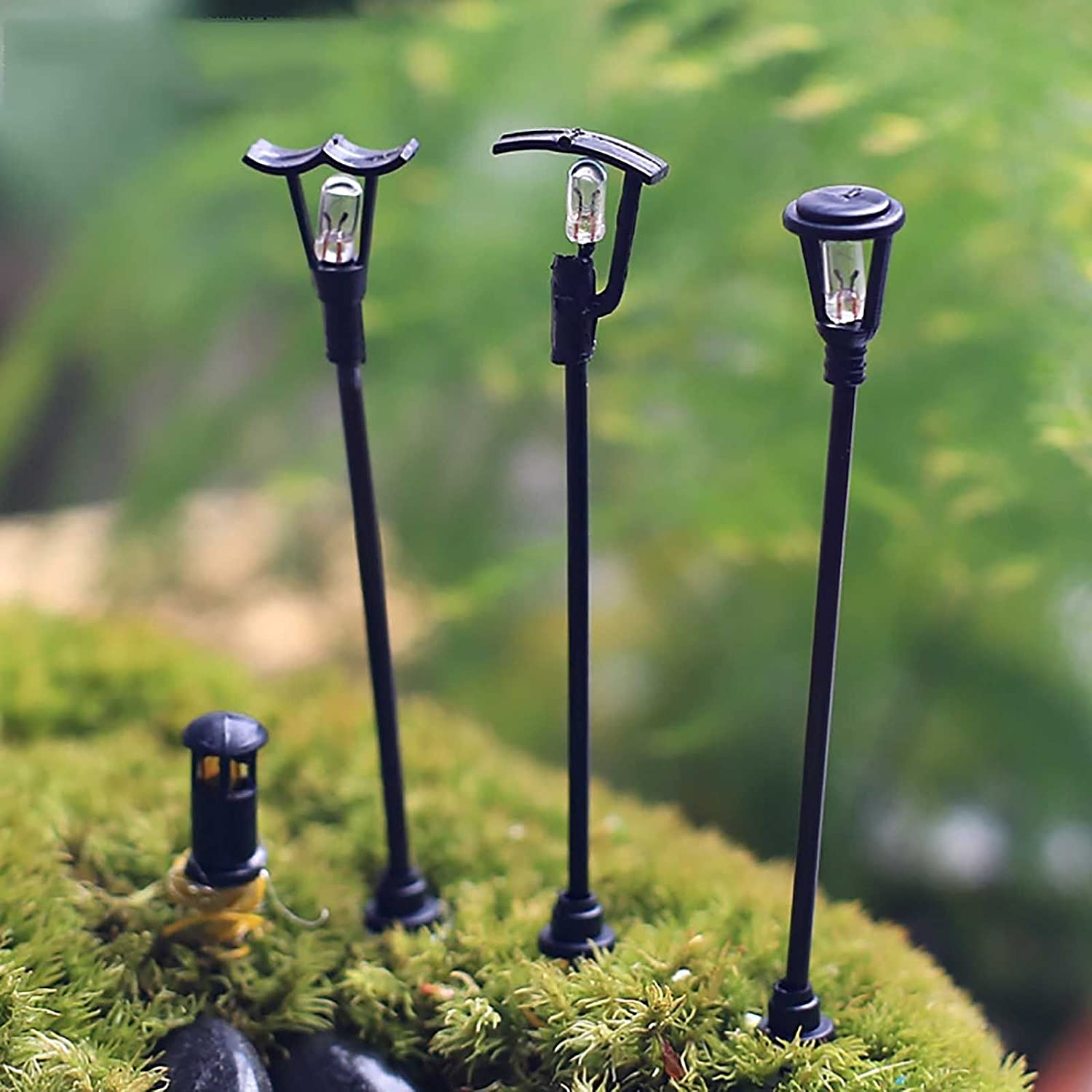 Great Amazon.com: Mini Street Lamp Resin Tiny Streetlights Landscape For Miniature  Fairy Garden Terrarium Decoration   3Pcs Random Style: Home U0026 Kitchen Nice Ideas