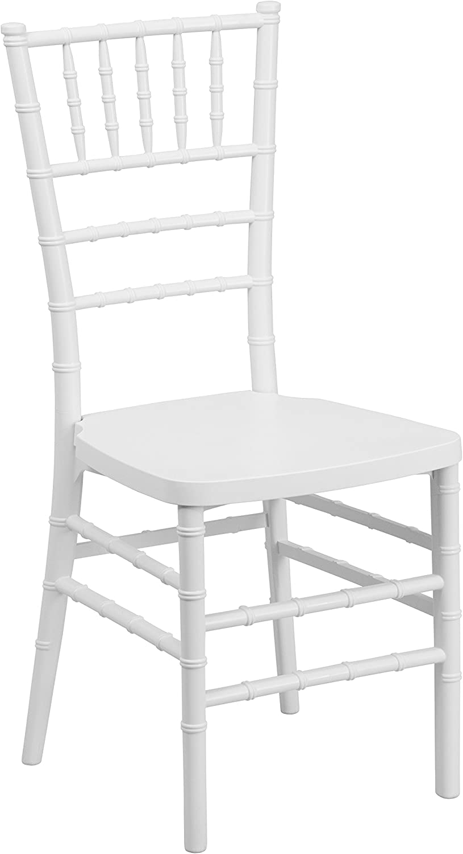 Flash Furniture HERCULES PREMIUM Series White Resin Stacking Chiavari Chair