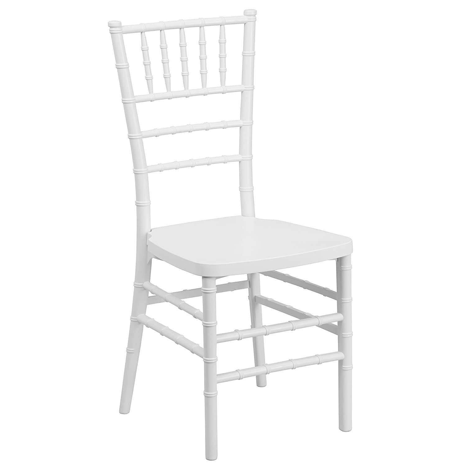 Amazon.com: Flash Furniture HERCULES PREMIUM Series White Resin Stacking Chiavari  Chair: Kitchen U0026 Dining