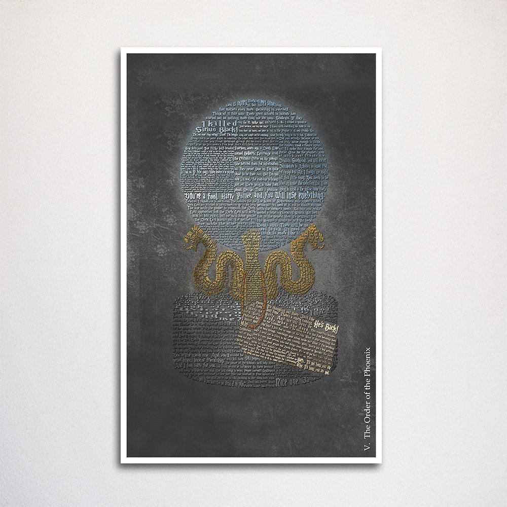 Amazon Harry Potter And The Order Of The Phoenix Word Art Print