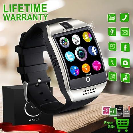Reloj Inteligente Bluetooth, Impermeable Smartwatch con Camara, SIM/TF Ranura Sports Podómetro Smart