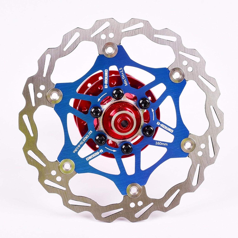 VHHV MTB Bremsscheibe 140mm 160mm Scheibenbremse Rotor 6 Schraube 2pcs Rostfreier Stahl Fahrrad 180mm Schwimmende Rotoren Enthalten 12 Schrauben