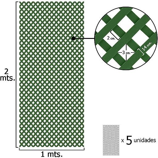 PAPILLON 8091565 Celosia PVC Fija Verde Set 5 Piezas de 2 x 1metros: Amazon.es: Jardín