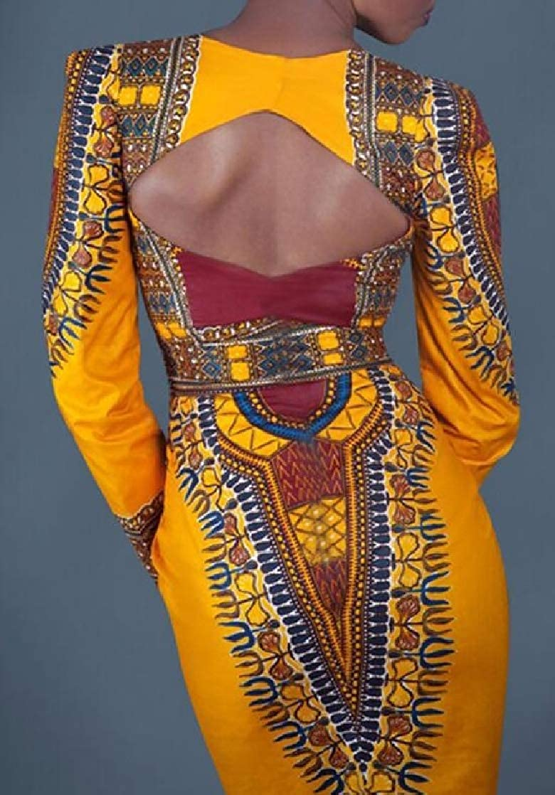 M/&S/&W Womens Casual Tunic Open Back Night Gown Traditional Tribal Party African Dresses