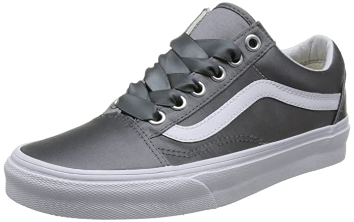 Vans Old Skool Schuhe Damen Grau (Satin Lux)