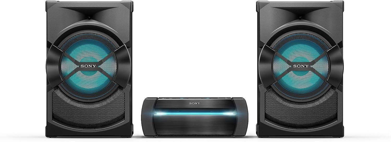 Sony SHAKE-X30D Negro - Microcadena (Negro, Frente, 2,5 cm, 25 cm (9.84
