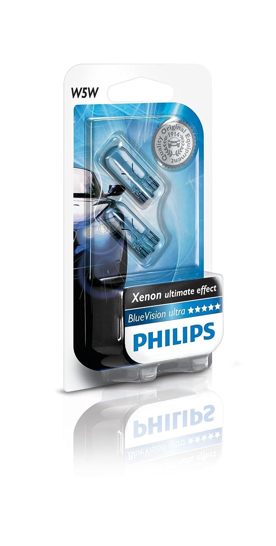 Philips 12961BVB2 Vision Bombilla, Color Azul, 2 Piezas, BlueVison, Set de 2: Amazon.es: Coche y moto