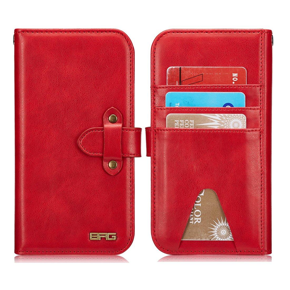 eee76a2efa Amazon | iphone7 Plusケース iphone8 Plusケース 手帳型 財布型 クラッチバッグ 【Boomshine】高品質 PUレザー  アイホン7/8プラス ケース 分離式 多機能スマホ手帳形 ...