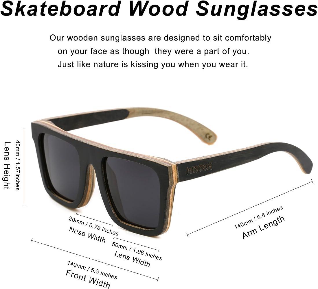 Amazon.com: Mini árbol hombres monopatín de madera anteojos ...