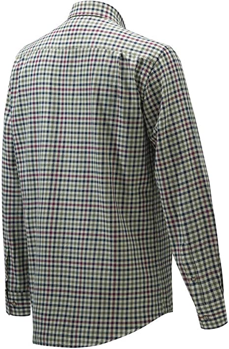 Beretta LU210 Classic Shirt Drip Dry Light /& Dark Green Check