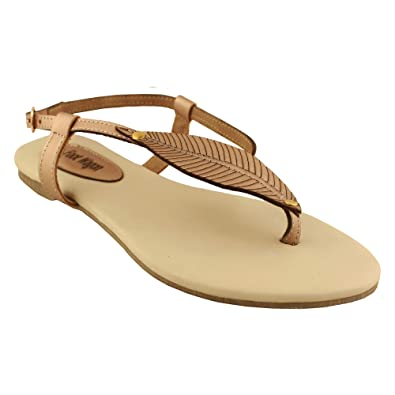 d6c641cef312 Foot Wagon Girls Rose Gold Cream Synthetic Flat Slippers -4 UK India (37