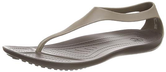 Crocs Women's Sexi Flip-Flop, Espresso, 4 M US