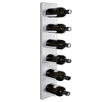 bdab6d442311e Casier à bouteilles / Étagère à vin murale DALLAS, en métal, pour 6  bouteilles