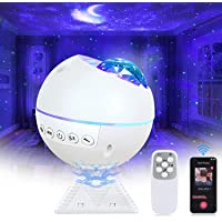 Perkisboby Star Projector, Galaxy Projector with Music Speaker, Night Light Projector for Kids Adults, LED Moon…