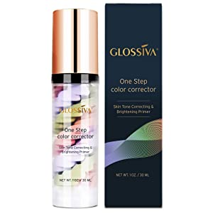 Glossiva Makeup Primer One Step Color Corrector, Skin Tone Correcting and Brightening Primer 30 ml
