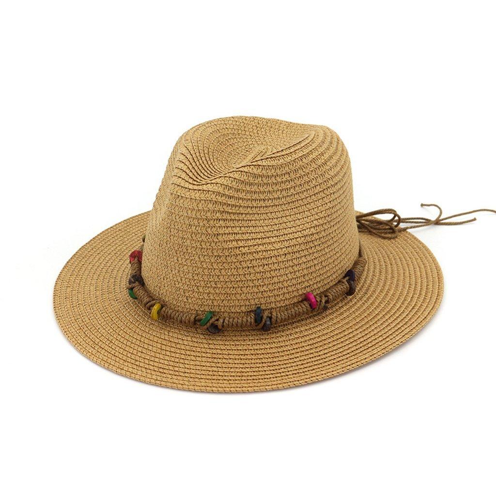 Summer Women Straw Fedoras Sun Hat Panama Bucket Sun Cap for Beach Travel