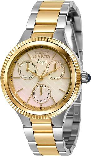 Invicta 31276 Reloj De Cuarzo Para Mujer Con Correa De Acero Inoxidable Color Plateado Dorado 18 Modelo 31276 Watches