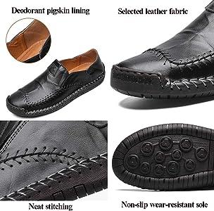 Mocasines Zapatillas Hombre Cuero Casuales Zapatos Caballero Trabajo Ligeras Ponerse Centavo Conducción Barco Vestido Formal (Marrón 1, Numeric_38): Amazon.es: Zapatos y complementos