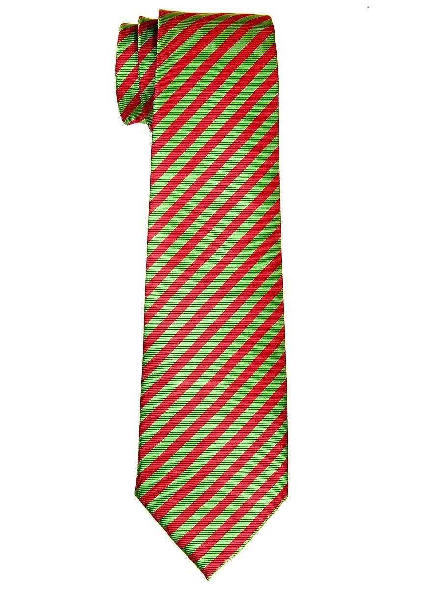 Retreez, cravatta da bambino a righe in tessuto di microfibra-8-10anni-vari colori RTZ-KDTIE-0013-BLKWHTSTRP