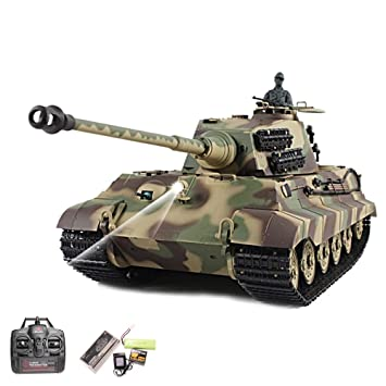 Licht Heng Long 1:16 RC Panzer German PANTHER RTR mit Sound Schuss Rauch