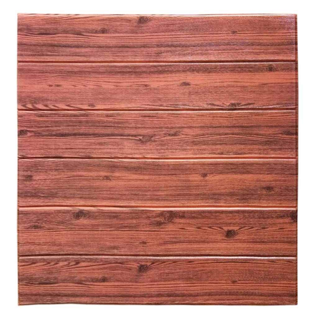 3d wall panels peel and stick old red black wood texture 3d foam brick wallpaper wall tiles self adhesive wall treatment cover panels 27 55inch square 19