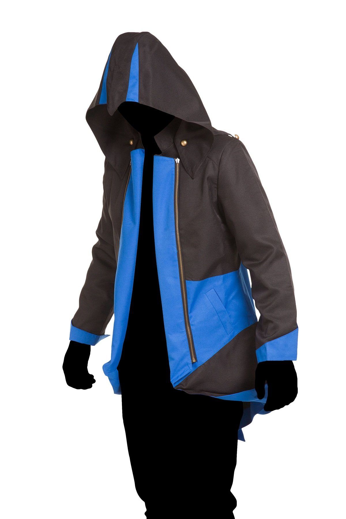 Cosplay Costume Hoodie/Jacket/Coat-9 Options for the fans,Black with Blue,Men Large