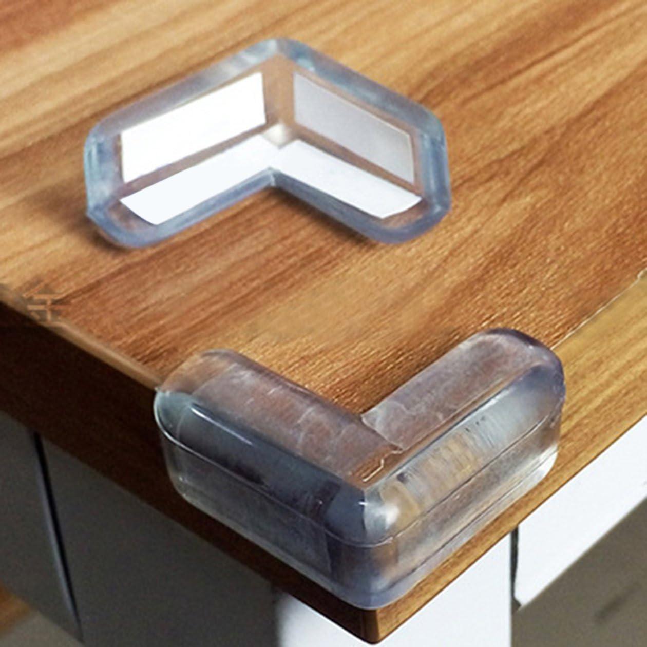 Transparent BIYI 4pcs b/éb/é enfant s/écurit/é prot/éger table coins de bureau coussin garde pare-chocs /épaissie tapis de protection Safe Crash Protection Pads