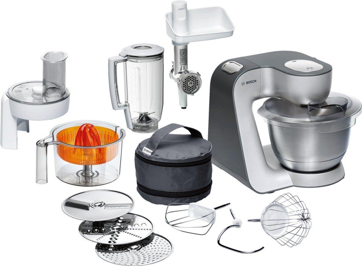 Amazon.de: Bosch MUM56340 Küchenmaschine Styline/900 Watt/Edelstahl ...