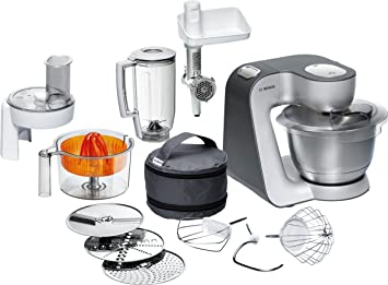Amazon.de: Bosch MUM56340 Küchenmaschine Styline / 900 Watt ...