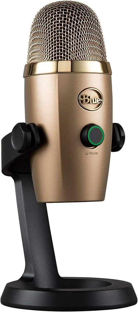 Blue Microphones Yeti Nano Usb Mikrofon Für Aufnahme Und Streaming Auf Pc Und Mac Verstellbares Stativ Plug Und Play Gold Musikinstrumente